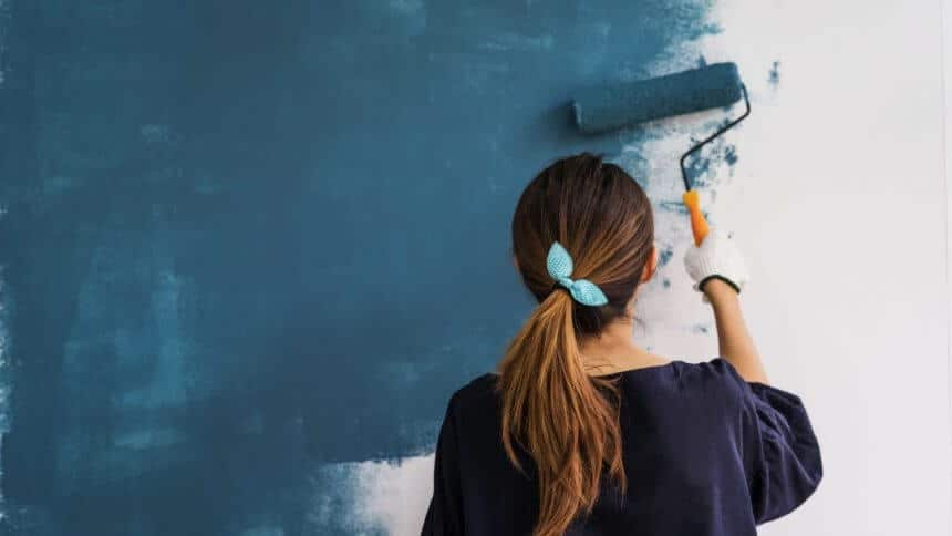painting blue walls