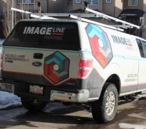 Image Line Painting Truck
